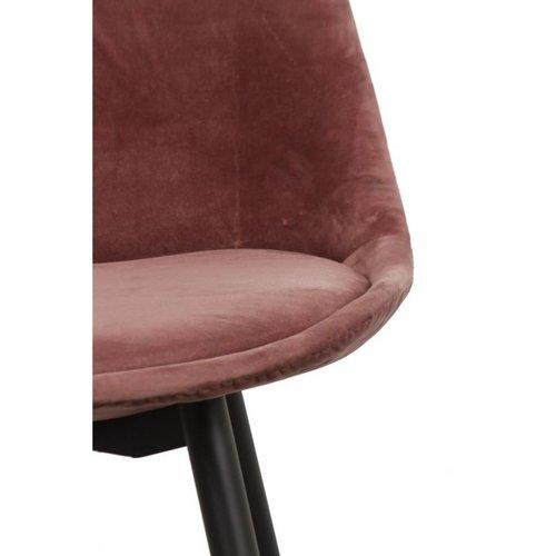 Pole to Pole Showroommodel Velvet barstoel - roze