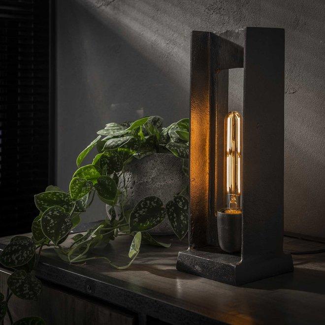 Tafellamp H-profiel / Zwart nikkel