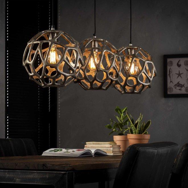 Hanglamp Bol Zandgegoten - 3 Lampen Ø29
