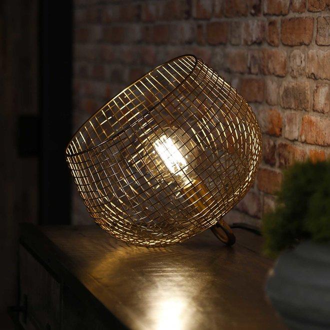 Tafellamp Ø33 basket wire / Goudkleurig