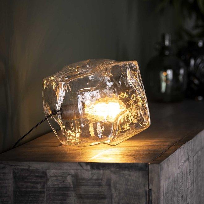 Tafellamp rock clear / Transparant glas