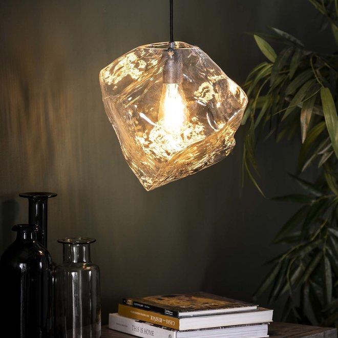 Hanglamp 1L rock clear / Transparant glas