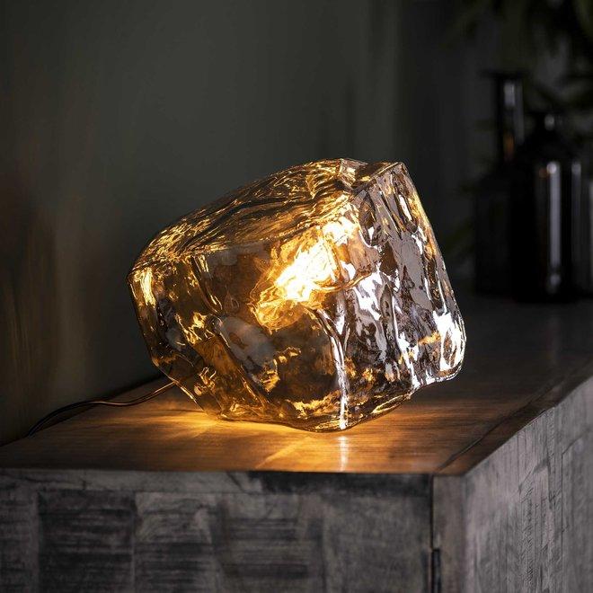 Tafellamp rock chromed / Chromed glas