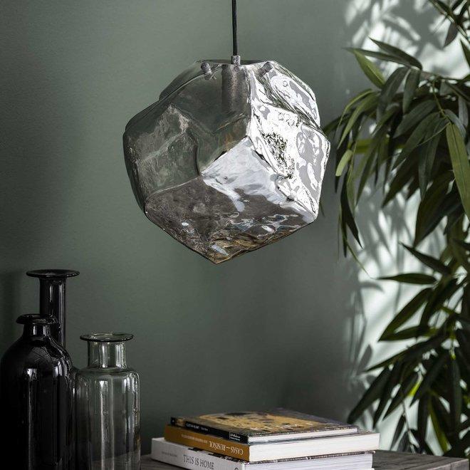Hanglamp 1L rock chromed / Chromed glas
