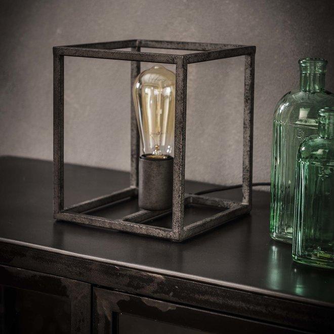 Tafellamp cubic / Oud zilver