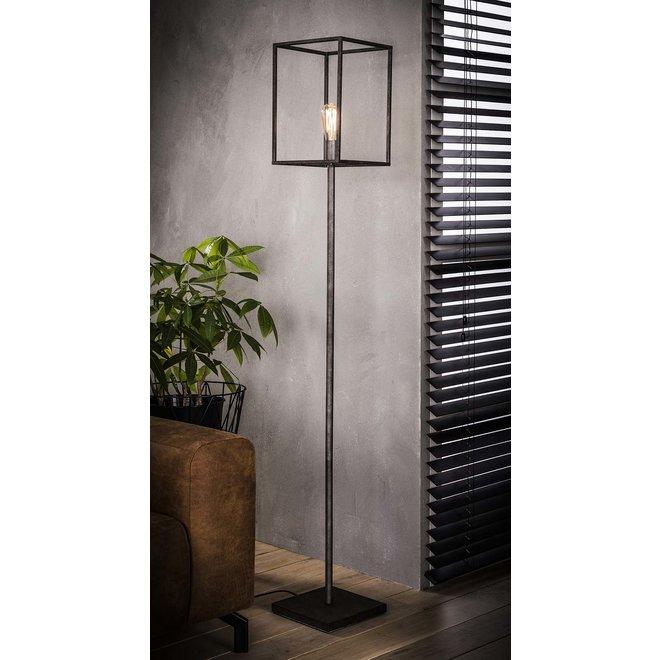 Vloerlamp cubic / Oud zilver