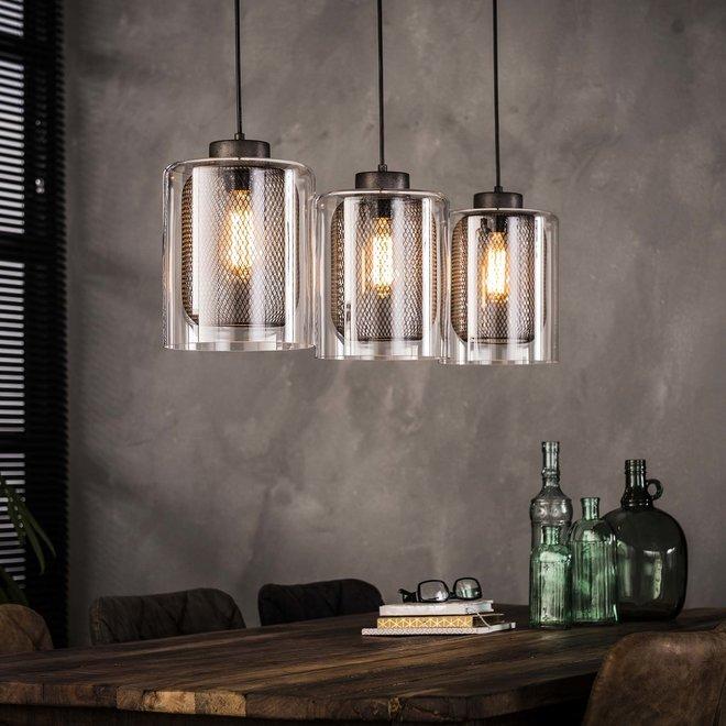 Hanglamp Glas - 3 Lampen Ø20