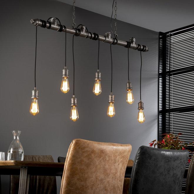 Hanglamp Industrial Tube Wikkel - 7 Lampen