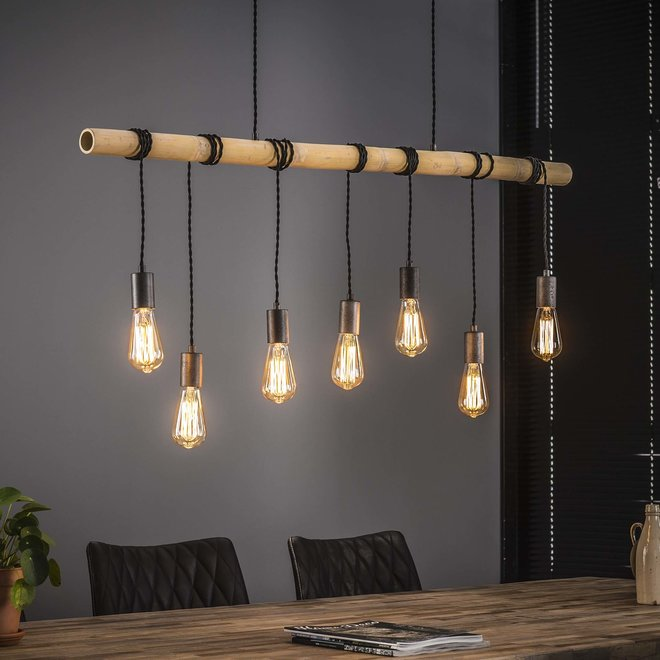Hanglamp Bamboo Wikkel - 7 Lampen