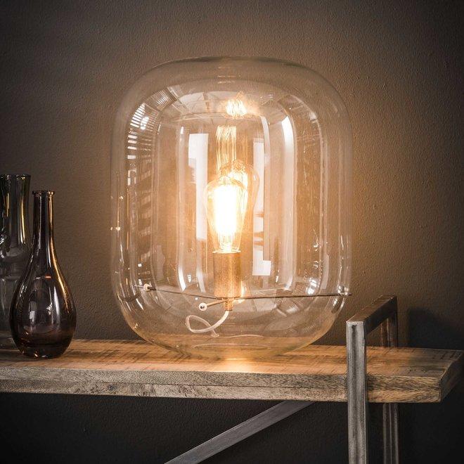 Tafellamp glazen kap / Transparant glas