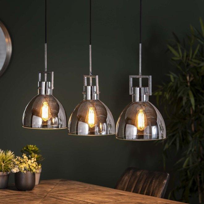 Hanglamp Industry Chromed Glass - 3 Lampen