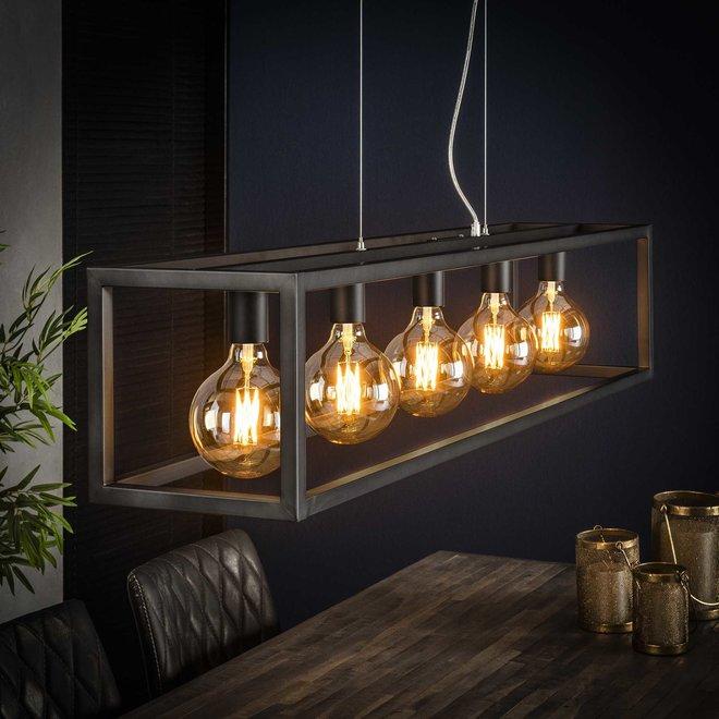 Hanglamp Rechthoek Met Vierkante Buis - 5 Lampen