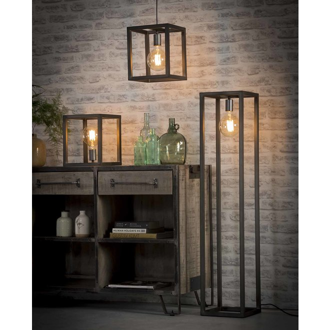 Tafellamp 25x25 vierkante buis / Zilver
