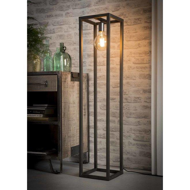 Vloerlamp 25x25 vierkante buis / Zilver