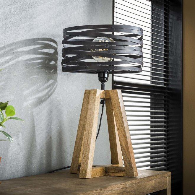 Tafellamp twist houten kruisframe / Slate grey