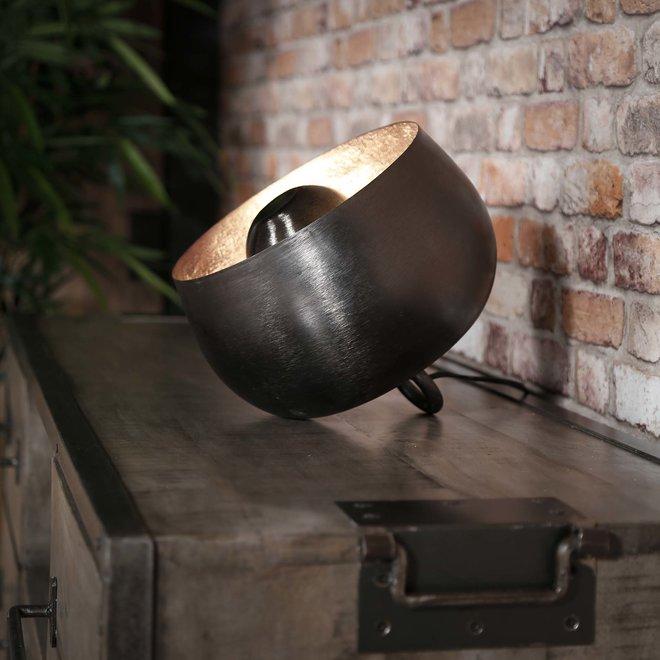 Tafellamp Ø28 basket / Zwart nikkel