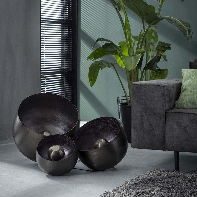 Tafellamp Ø50 basket XL / Zwart nikkel
