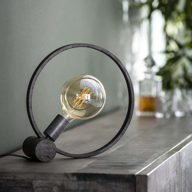 Tafellamp Ø30 circular / Oud zilver
