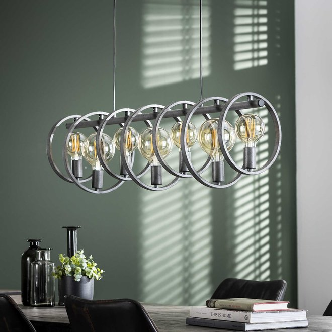 Hanglamp 7L circular / Oud zilver