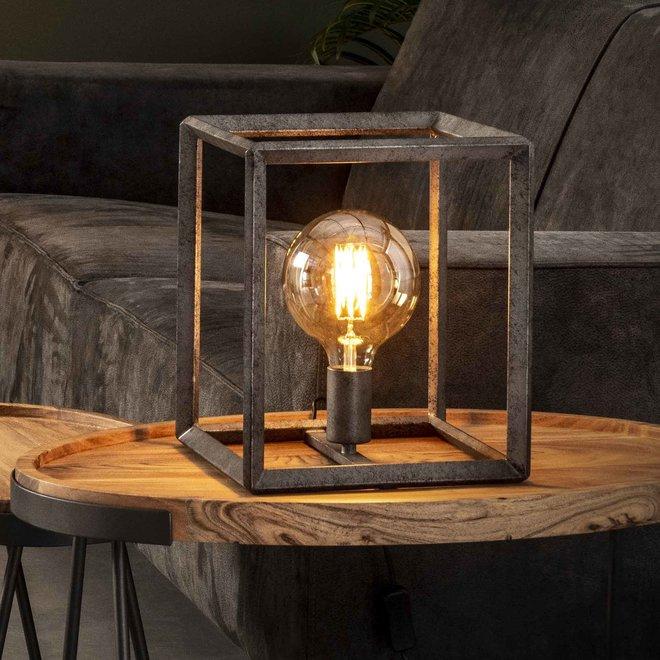 Tafellamp 45 graden buis / Oud zilver