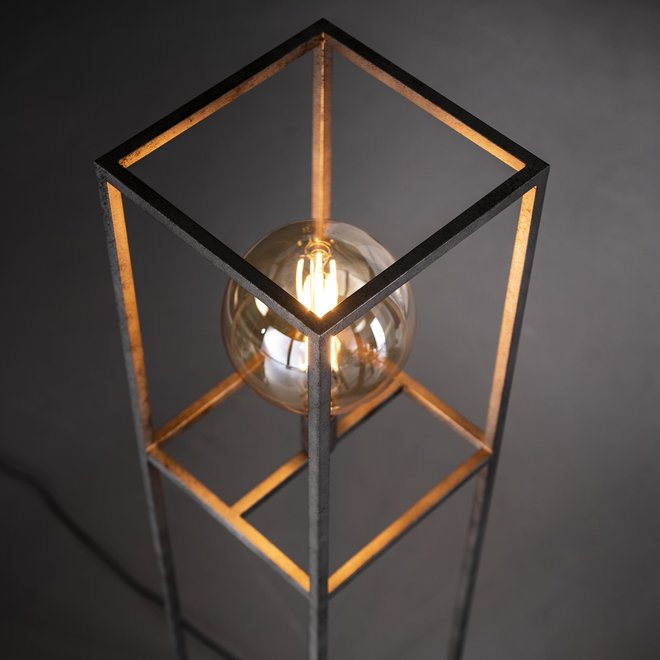 Vloerlamp giant square / Oud zilver
