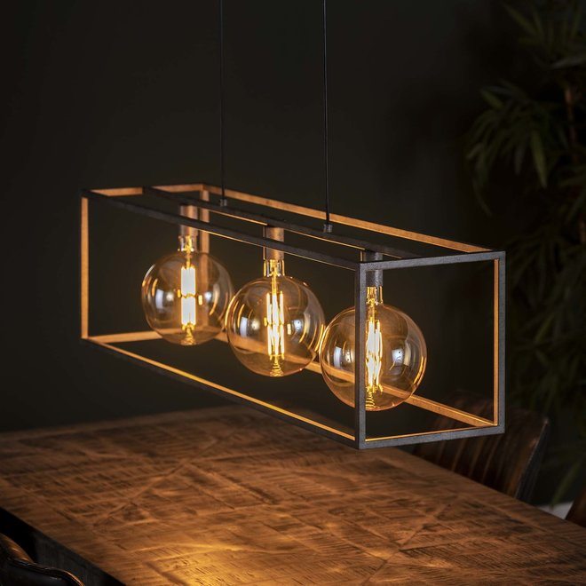 Hanglamp 3L giant square / Oud zilver