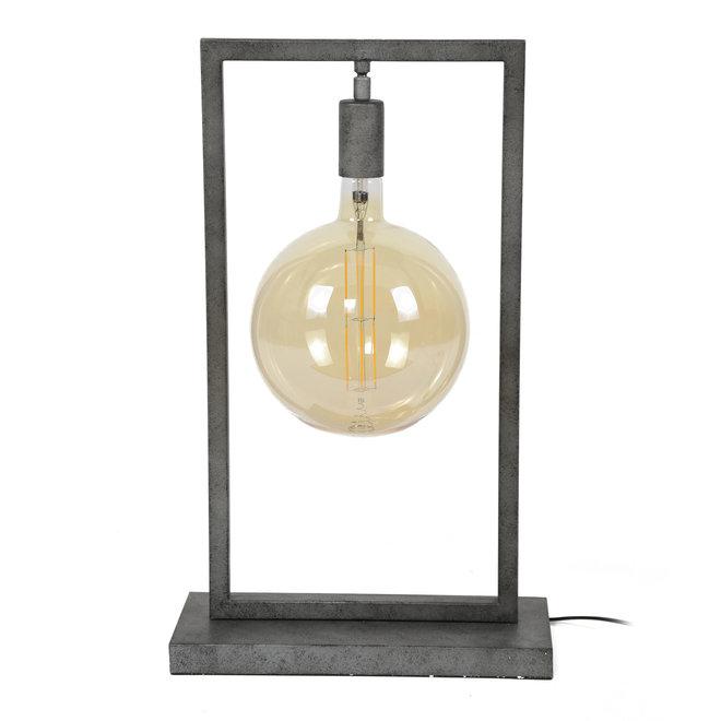 Tafellamp sky rechthoekig frame / Oud zilver