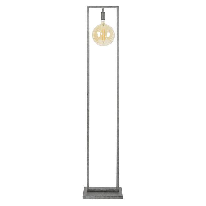 Vloerlamp sky rechthoekig frame / Oud zilver