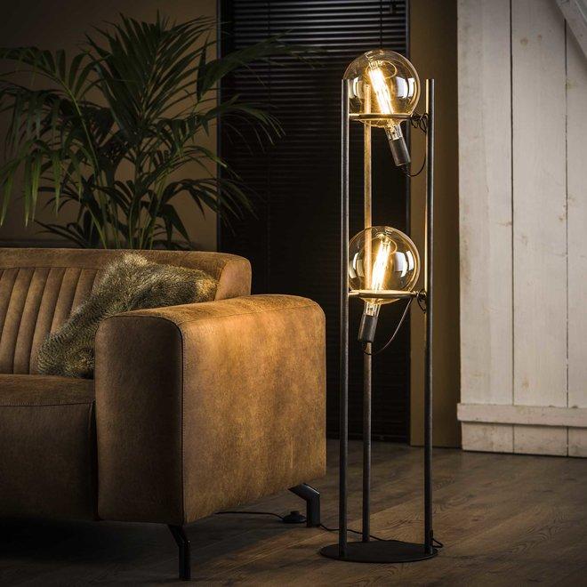 Vloerlamp 2L saturn Ø20 lichtbron / Oud zilver