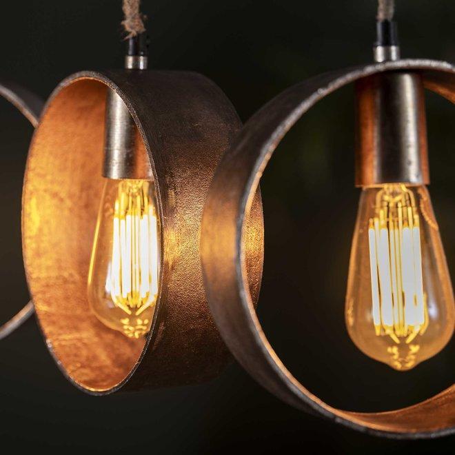 Hanglamp 5L loop/Antiek Nikkel