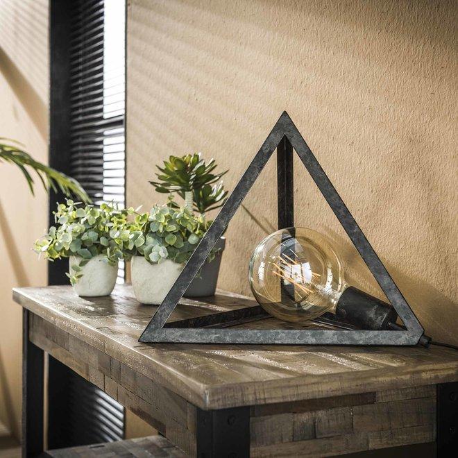 Tafellamp pyramide / Charcoal