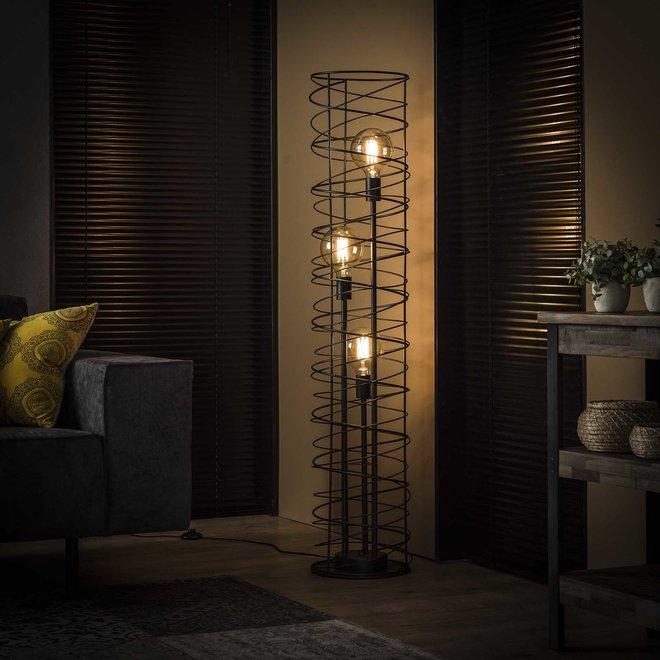 Vloerlamp 3L spiraal Ø28 cilinder / Charcoal