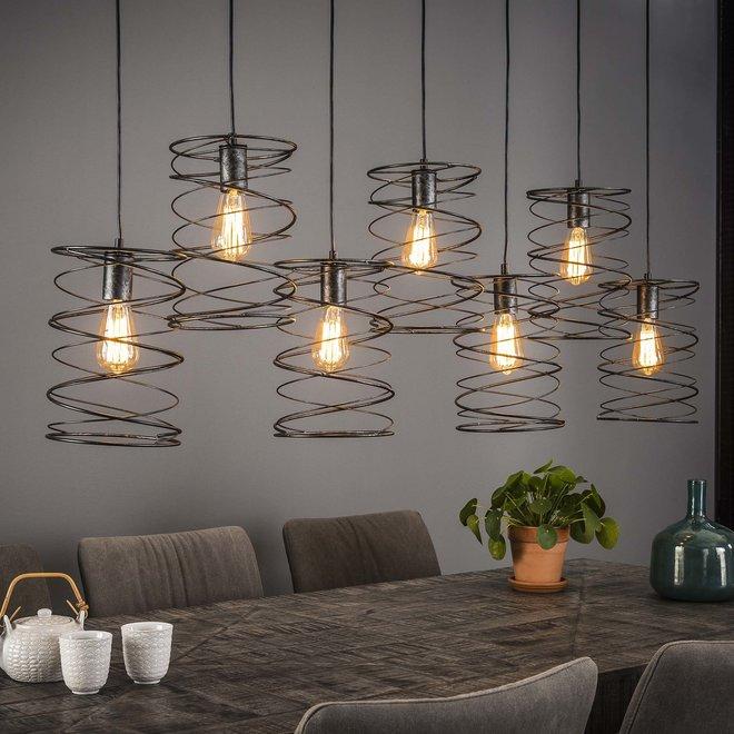 Hanglamp 7xØ20 curl / Charcoal