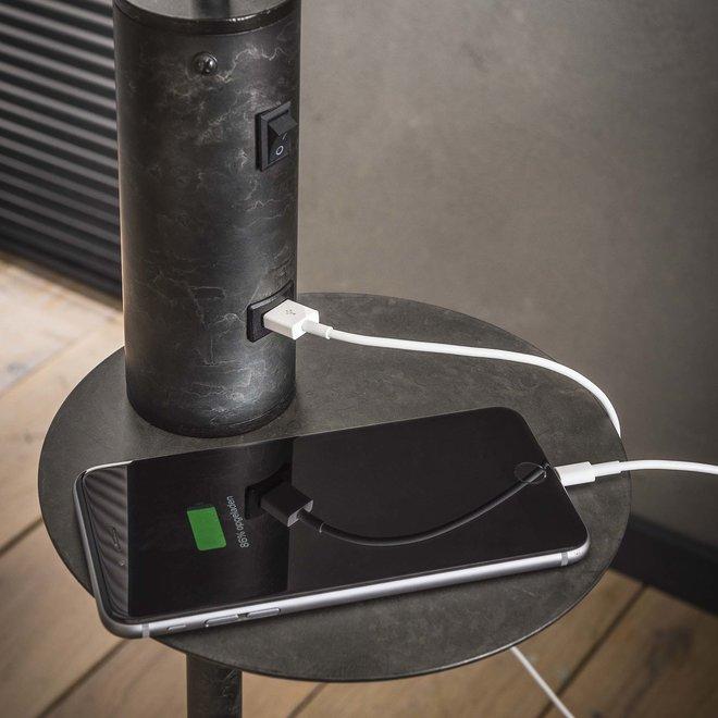 Vloerlamp USB oplader / Charcoal
