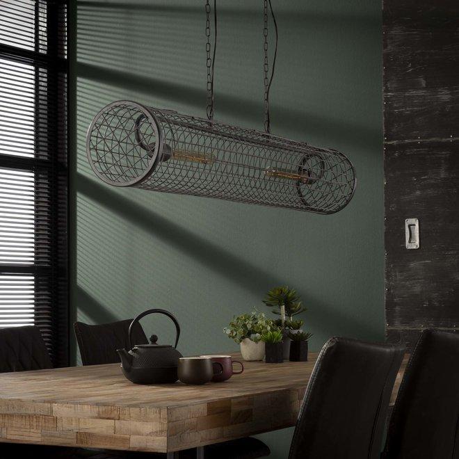 Hanglamp D20cm cylinder gaas/Slate grey