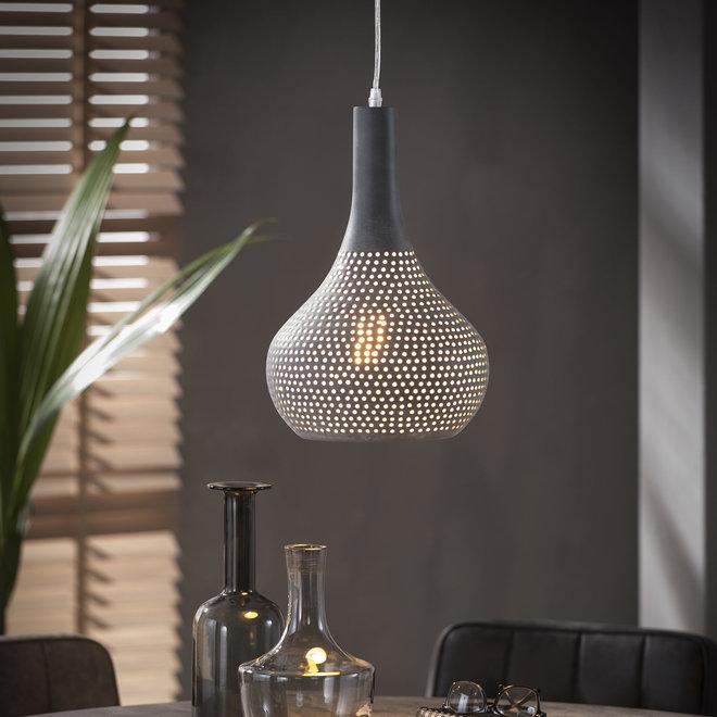 Hanglamp 1x industry concrete kegel/Grijs
