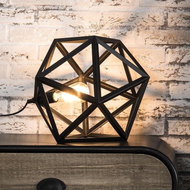Tafellamp 1L triangle/Zwart