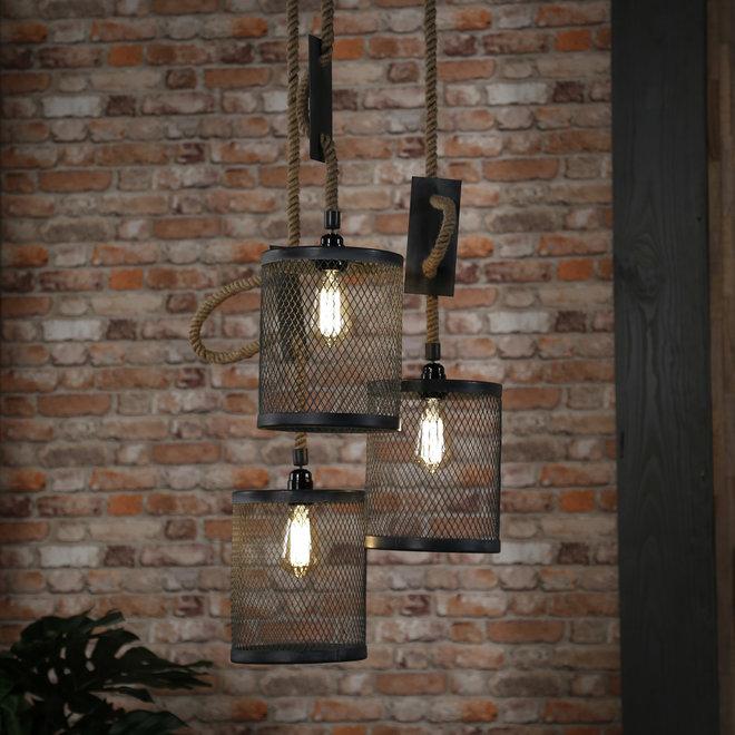 Hanglamp Mesh Verstelbaar Touw - 3 Lampen Ø20