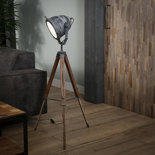 Vloerlamp iron houten statief / Grijs