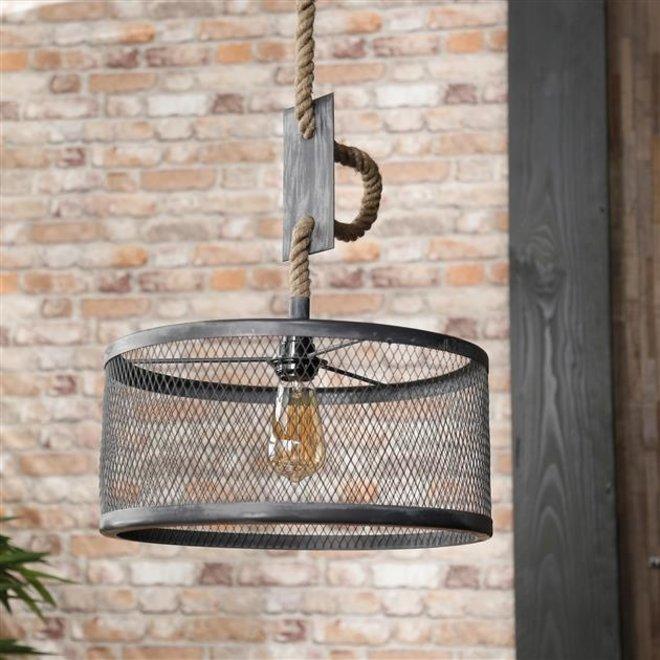 Hanglamp Ø40 mesh verstelbaar touw / Grijs