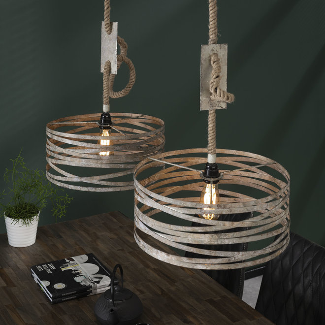 Hanglamp Twist Touw - 2 Lampen Ø40