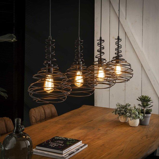 Hanglamp Kegel Spinn - 4 Lampen Ø25