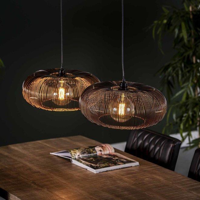 Hanglamp Disk Wire Copper Twist - 2 Lampen Ø43