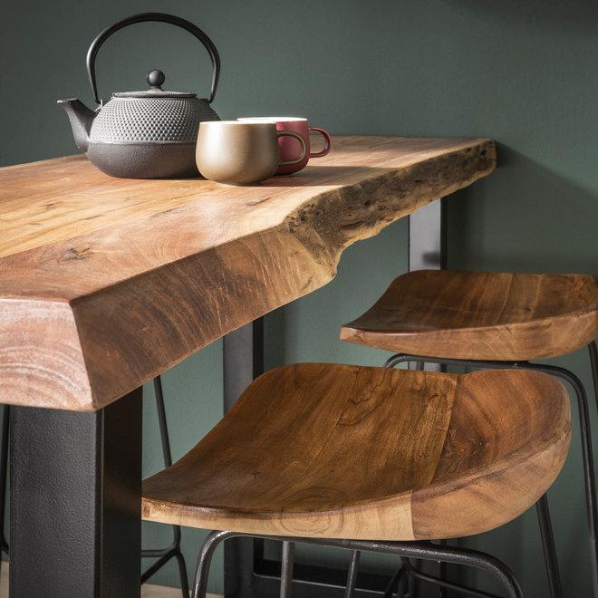 Barstoel hout ergo VPE4 / Massief acacia naturel