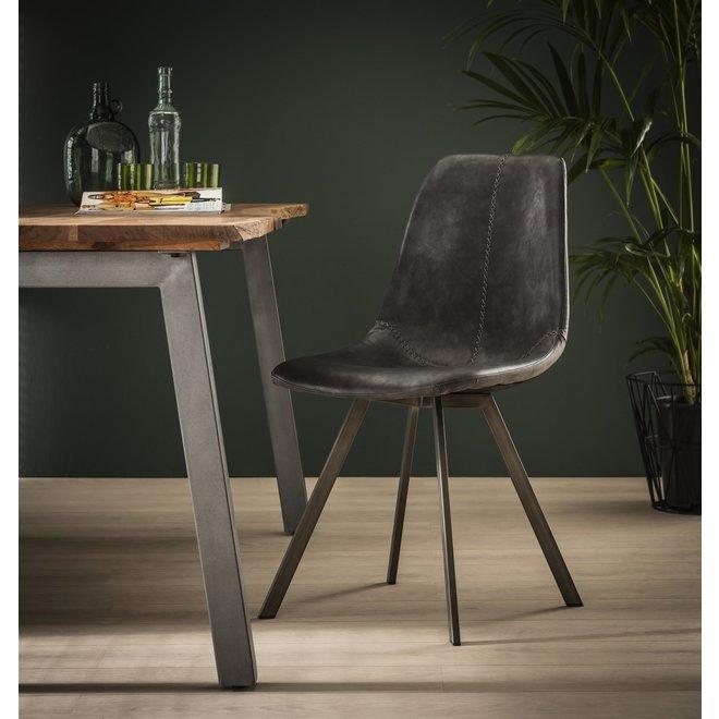Barstoel zig-zag plat frame VPE 4 / Saddle PU zwart