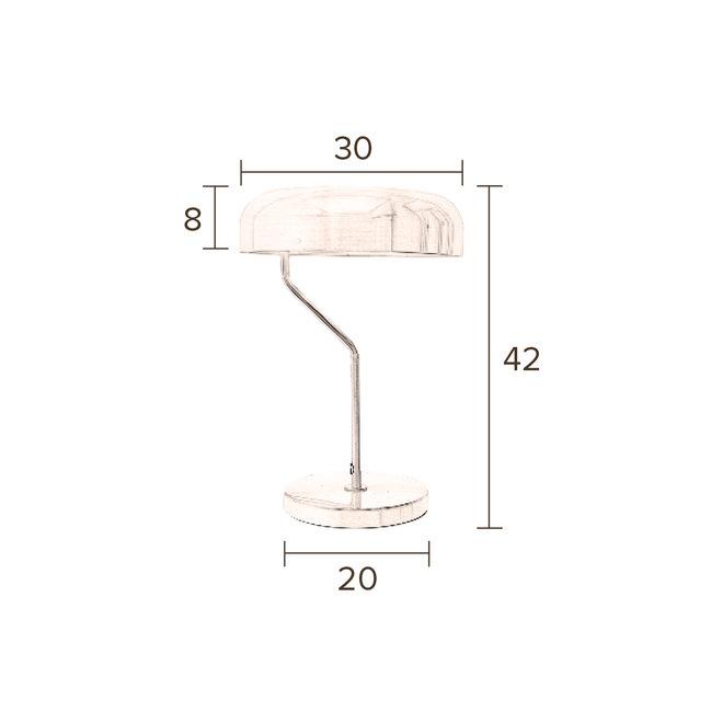 Bureaulamp Eclipse Brass
