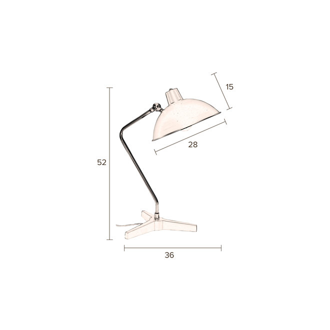 Bureaulamp Devi - Zwart