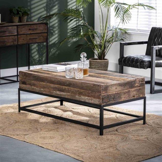 Salontafel Lodge rechthoek / Massief gerecycled hout