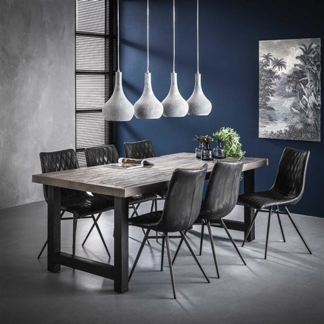 Eetkamertafel 200 acacia rough grey / Grijs