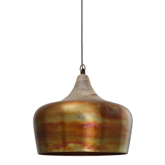 Danish copper iron smooth hanging lamp round with